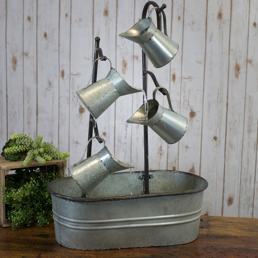 Metal Watering Can Fountain