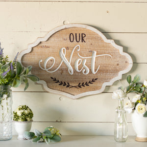 "Sign ""Our Nest"""