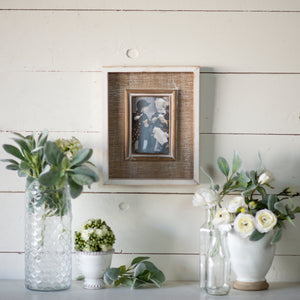 Wood/White Frame