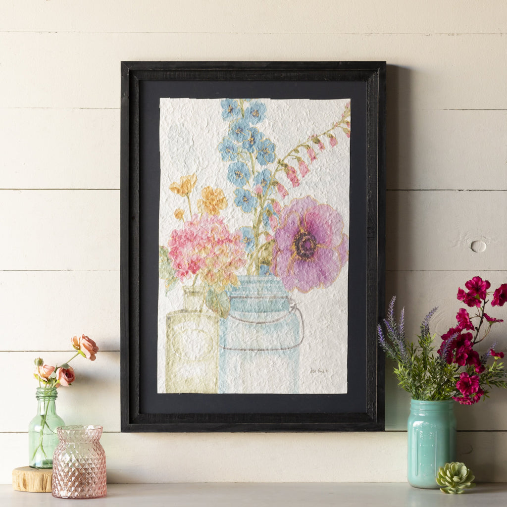 Watercolor Floral Art 27.5""