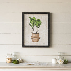 Fiddle Leaf Fig Art 19.75""