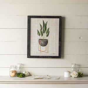 Potted Plant Art 19.75""