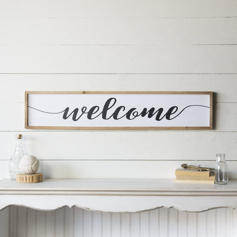 """Welcome"" Sign 39.5"""