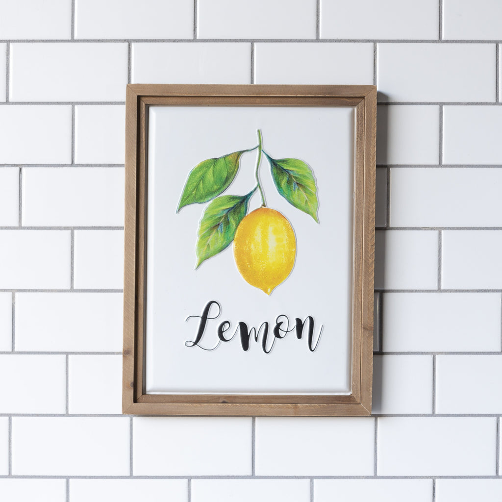 """Lemon"" Sign 16.5"""