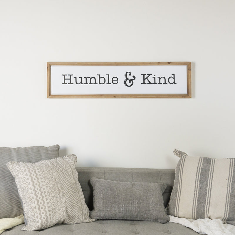 """Humble and Kind"" Sign 39.5"""