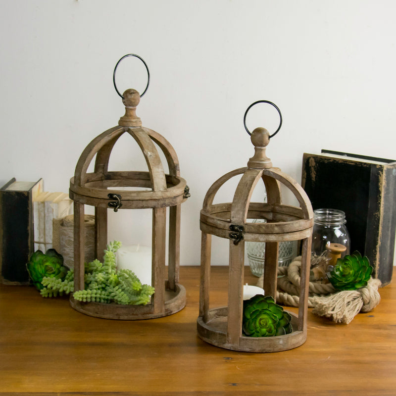 Set Of Two Round Lanterns