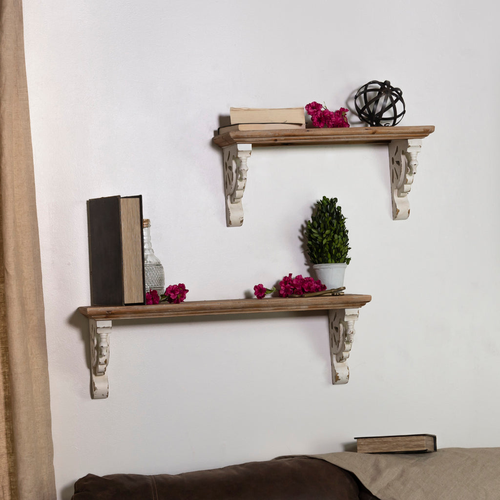 Wood Shelves S/2