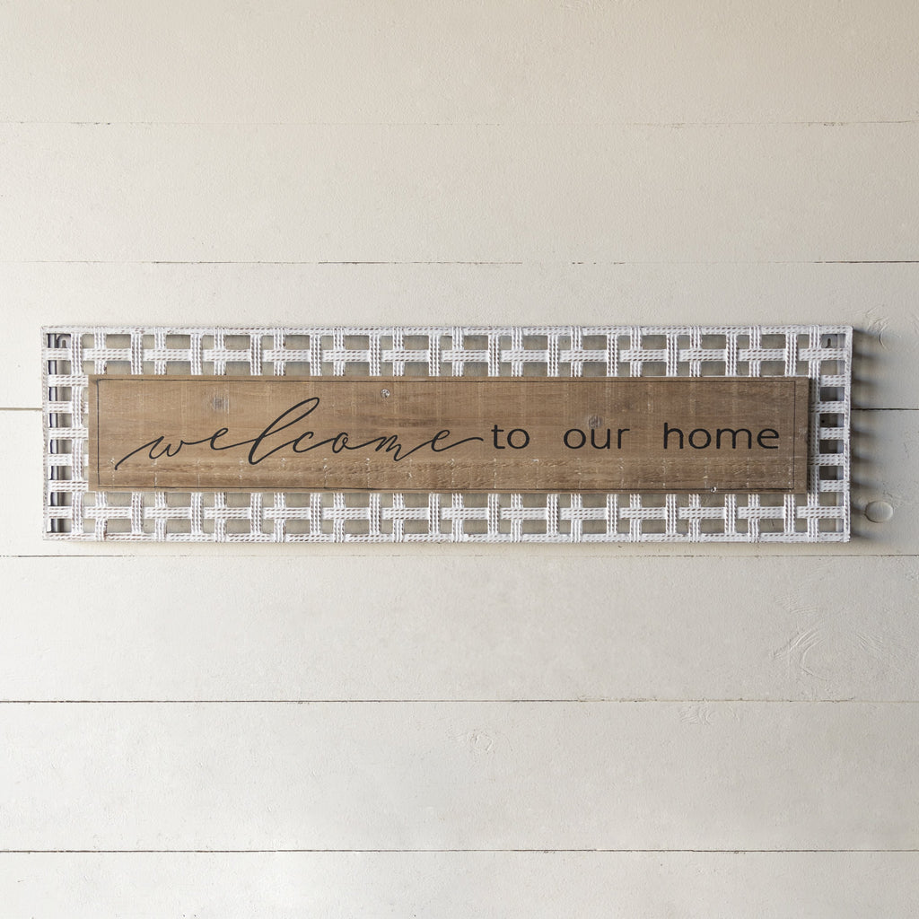 """Welcome Home"" Sign 33"""