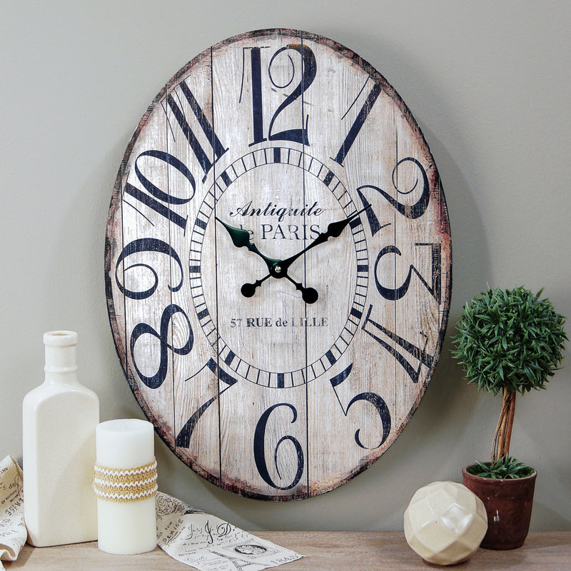 Wood Oval Clock 23