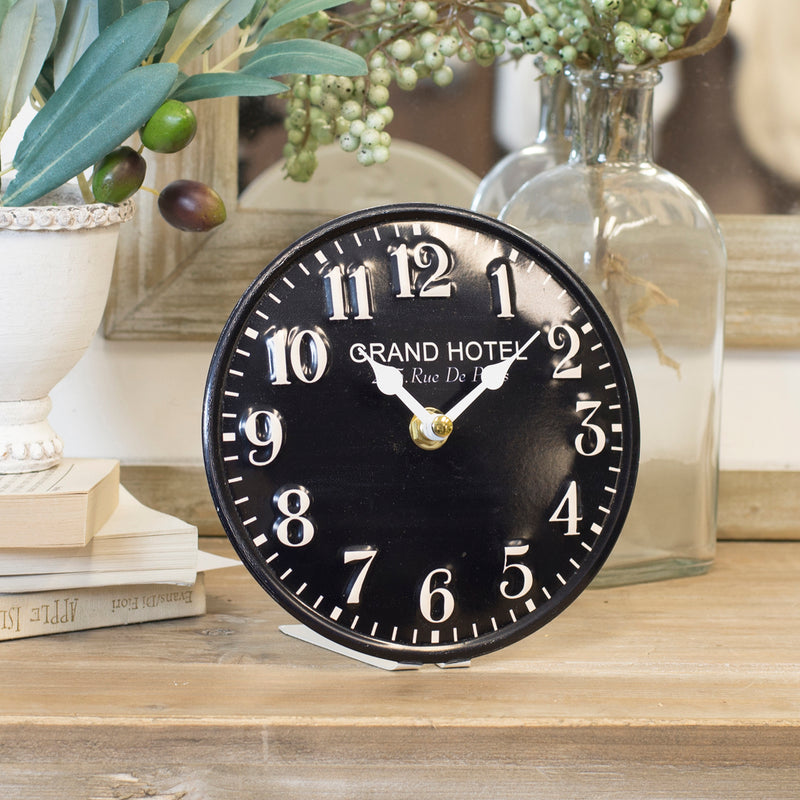 "Embossed Metal ""Grand Hotel"" Wall Clock"