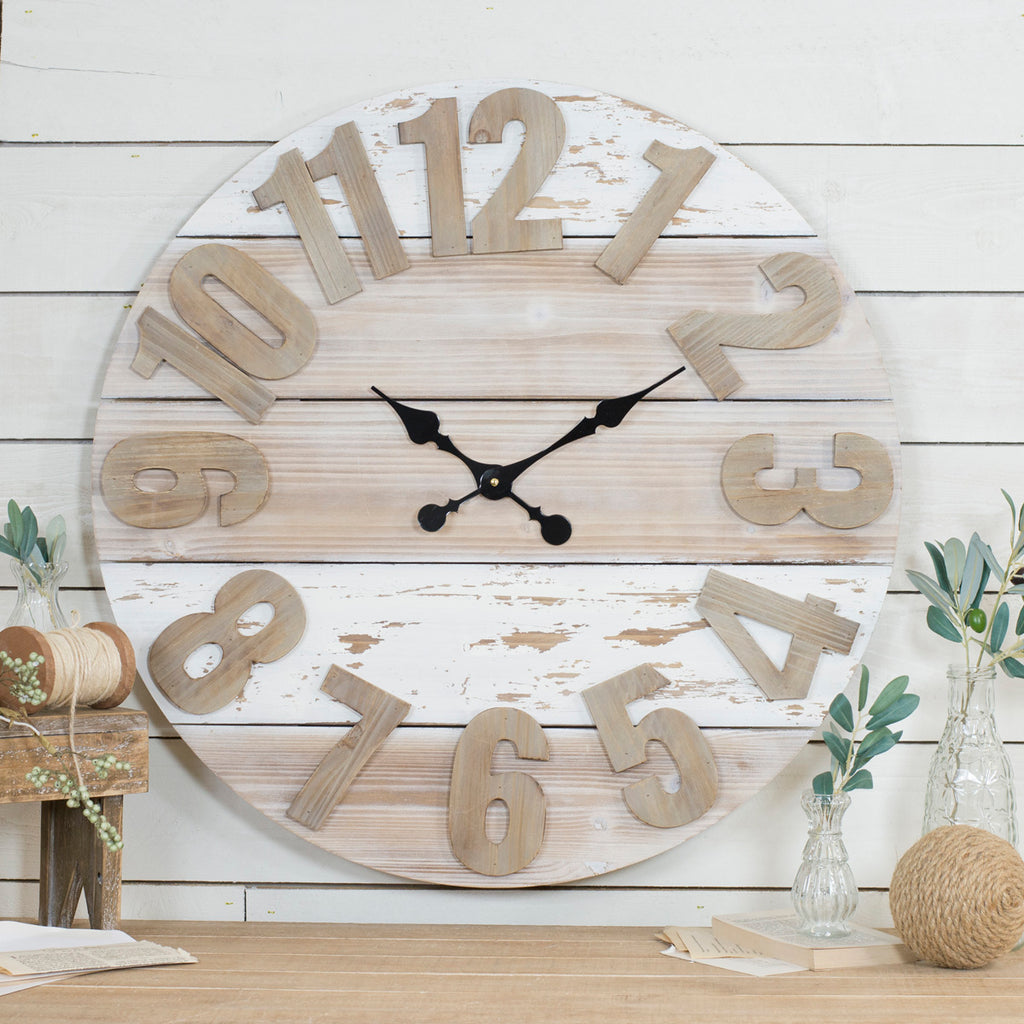 Wood Wall Clock 30""