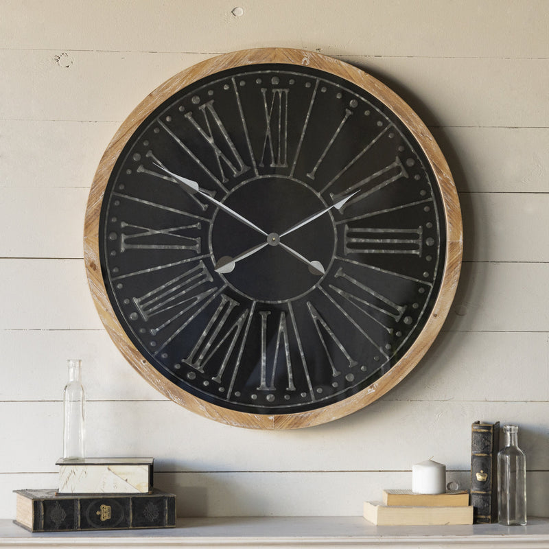 Black Framed Clock 33