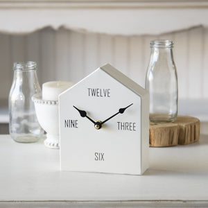 Tabletop House Clock 6.75""