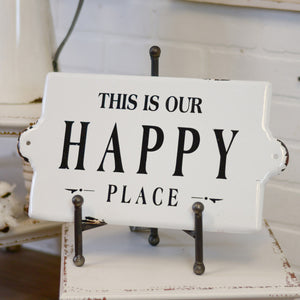 "Sign ""Happy Place"""