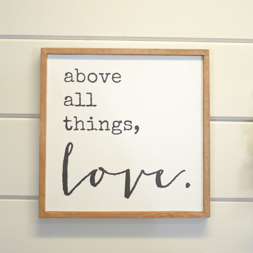 "Wood Sign ""Love"""