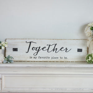 "Wood Sign ""Together"""