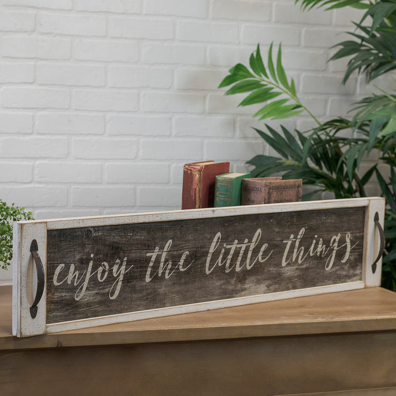 "Wood Sign ""Little Things"""