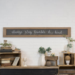 "Wood Sign ""Humble & Kind"""