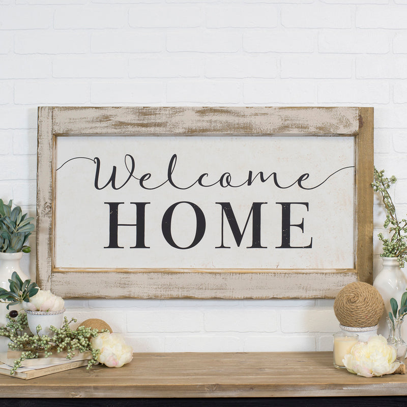 "Wood Sign ""Welcome"""