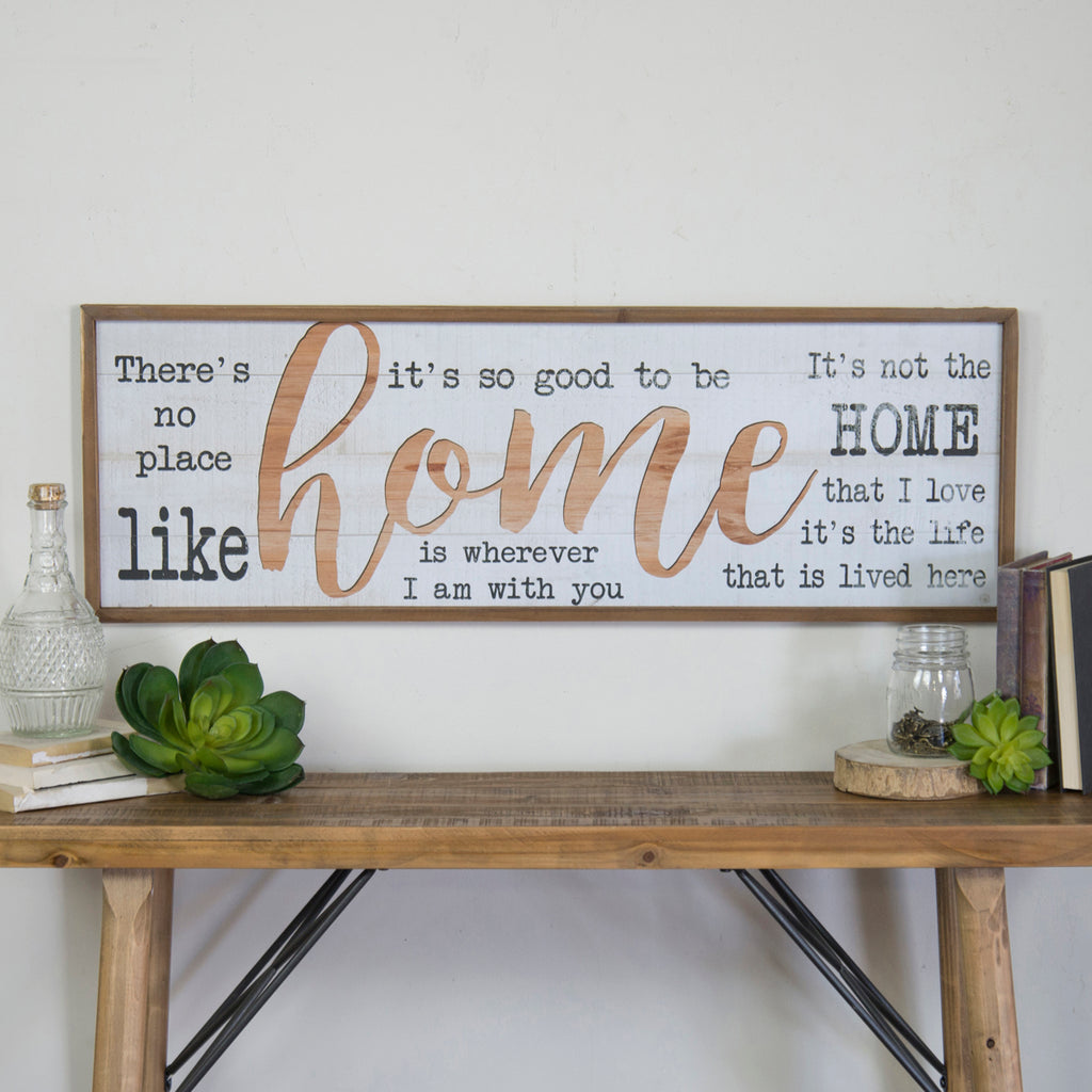 "Wood Sign ""Home"""
