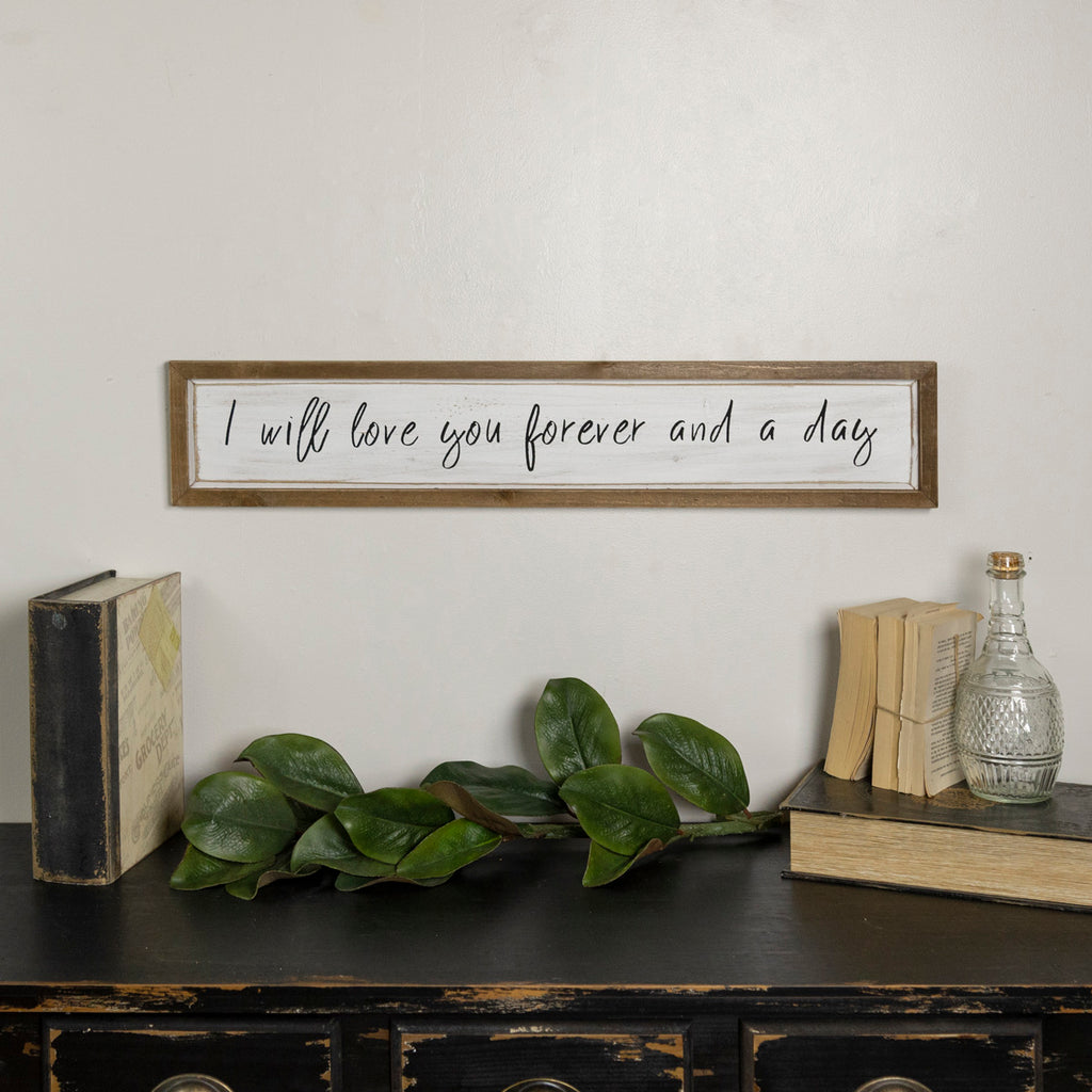 "Wood Sign ""I Will Love You Forever"""