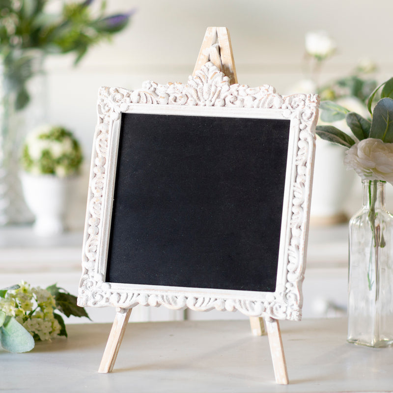 Wood Chalkboard with Distressed Paint