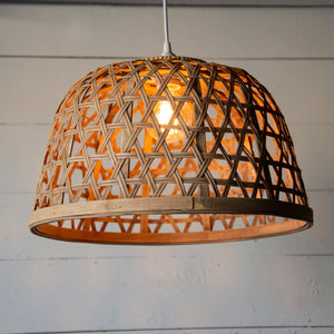 Large Wicker Light