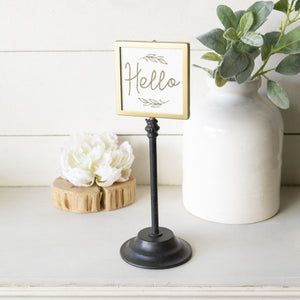 Hello Table Sign 12""