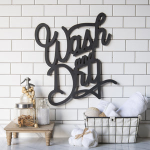 """Wash and Dry"" Wall Sign 22.75"""