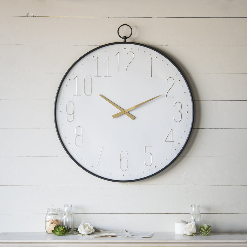 Metal Wall Clock 34""