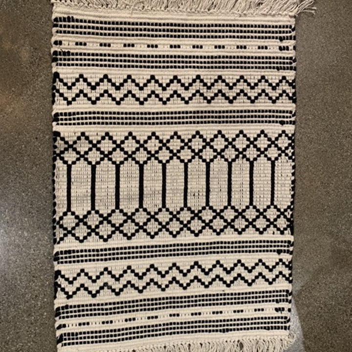 Cotton Woven Rug with Machine Wash Cold