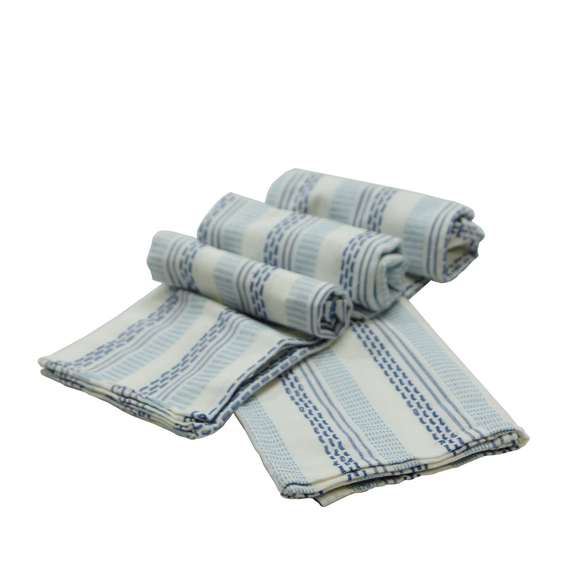 Cotton Tea Towels S/4 with Machine Wash Cold