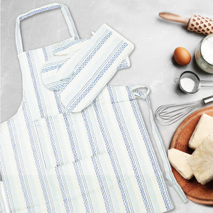 Cotton Apron And Pot Holder Set