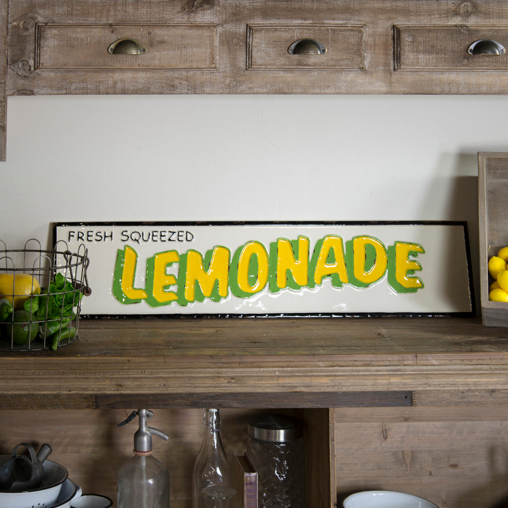 "Metal Sign ""Lemonade"""