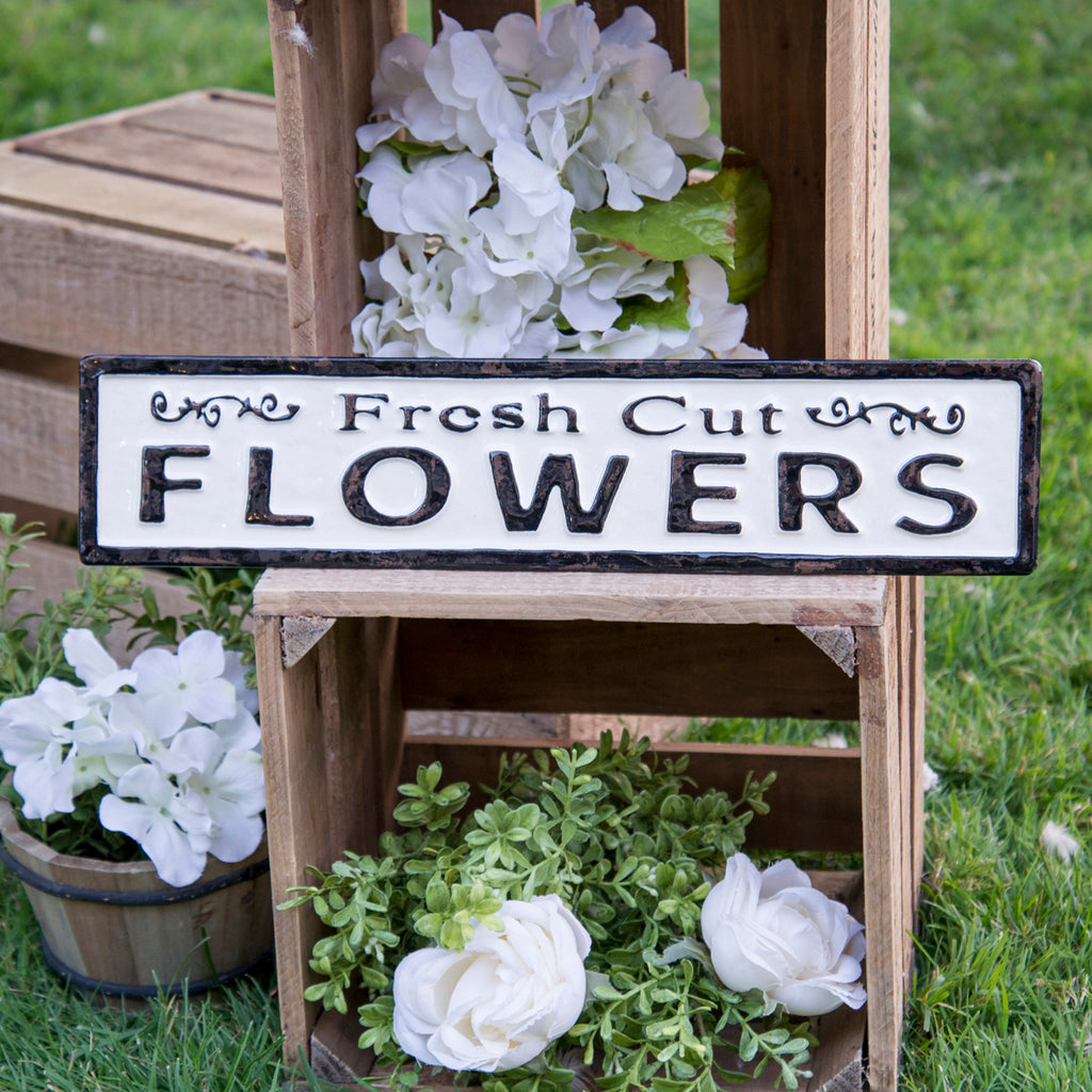 "Metal Sign ""Flowers"""