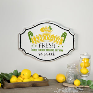 "Metal Sign ""Lemonade Fresh"""
