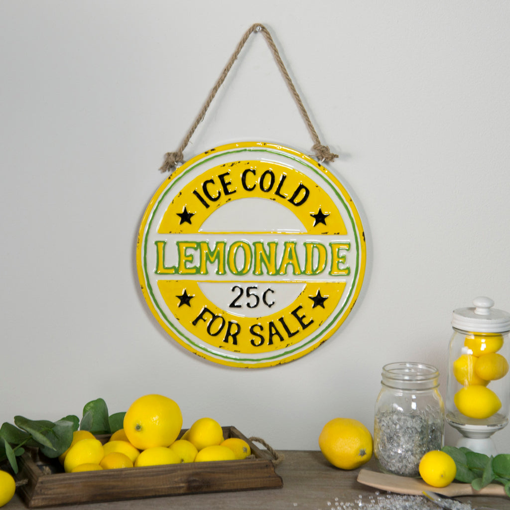 "Metal Sign ""Lemonade For Sale"""