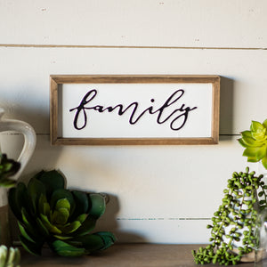 "Block Sign ""Family"""