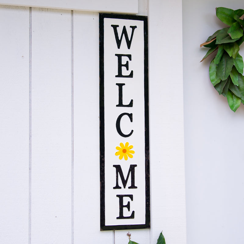 "Metal Sign ""Welcome"" with Gloss Finish"