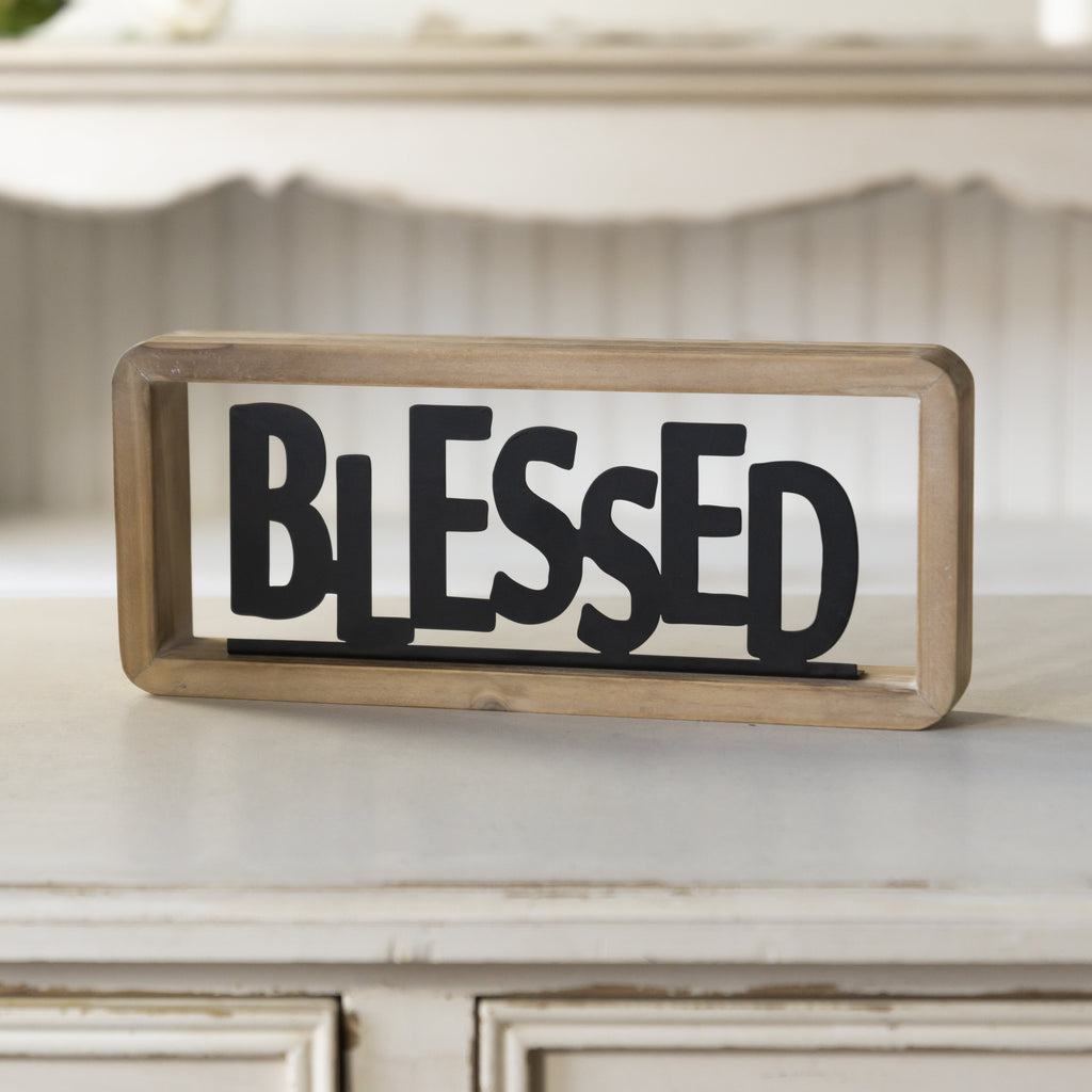 """Blessed"" Tabletop Sign 12"""