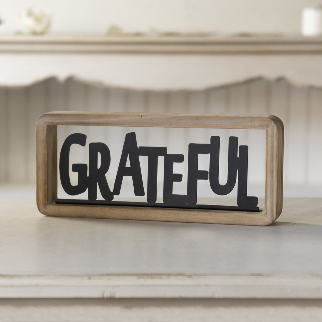 """Grateful"" Tabletop Sign 12"""
