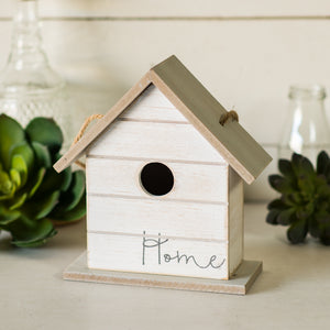 Wood Birdhouse with Antique Finish