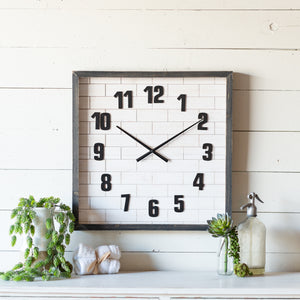 Square Subway Tile Clock