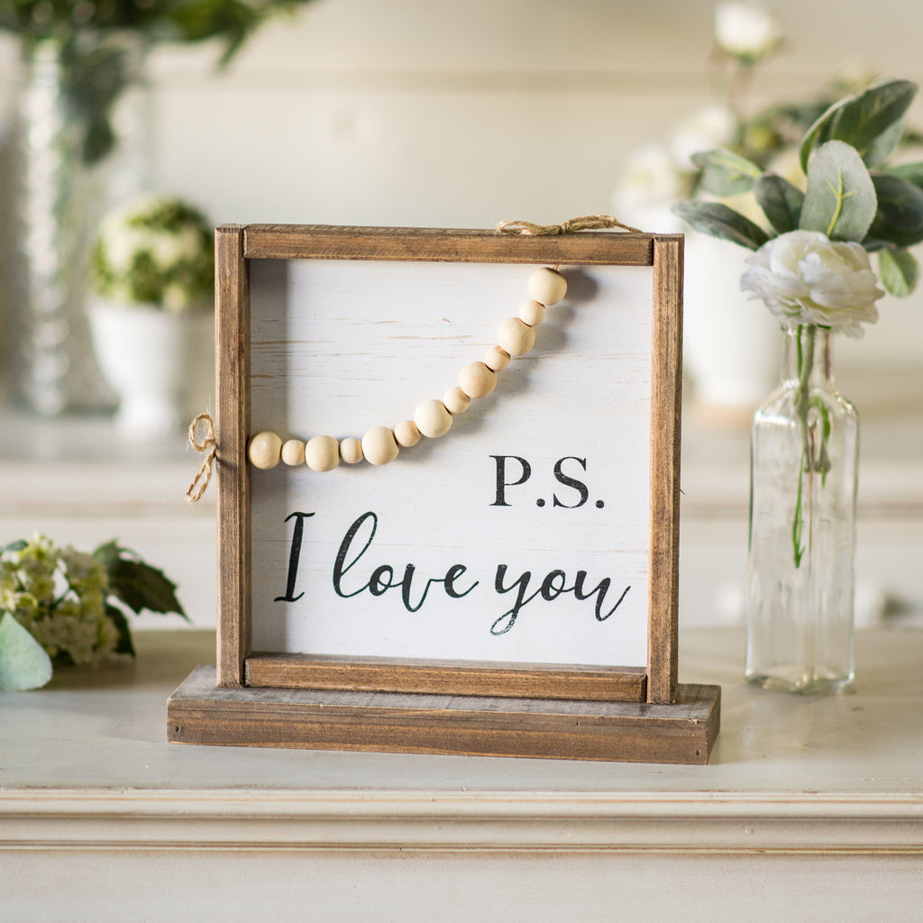 "Sign ""P.S. I Love You"""