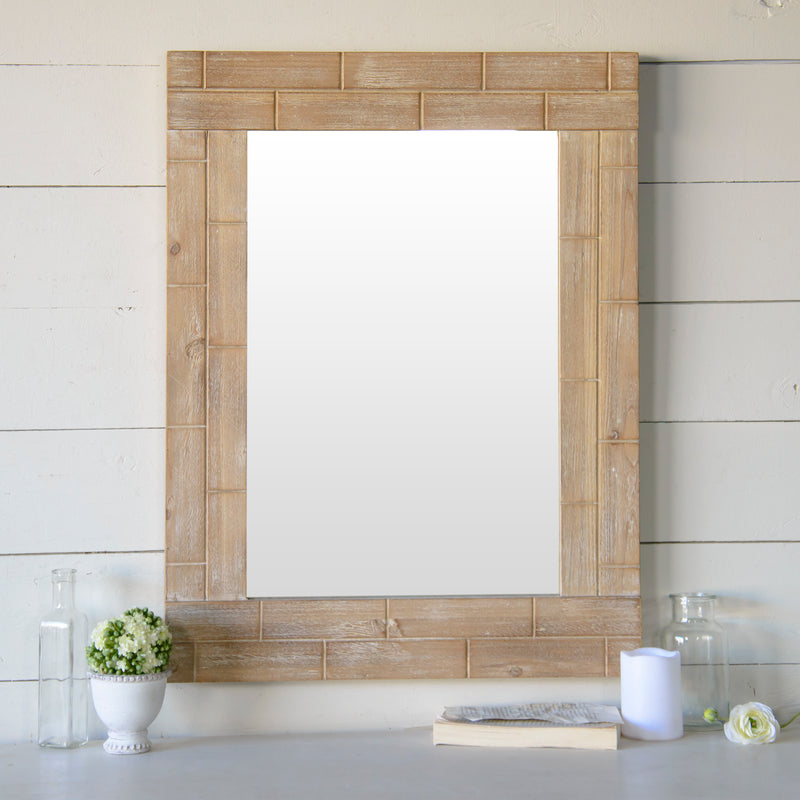Wood Mirror with Wood Frame
