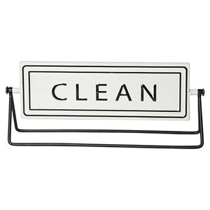 """Dirty/Clean"" Sign 12"""