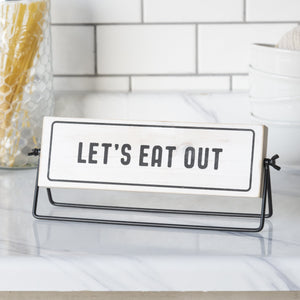 """Let's Eat Out"" Sign 12.5"""