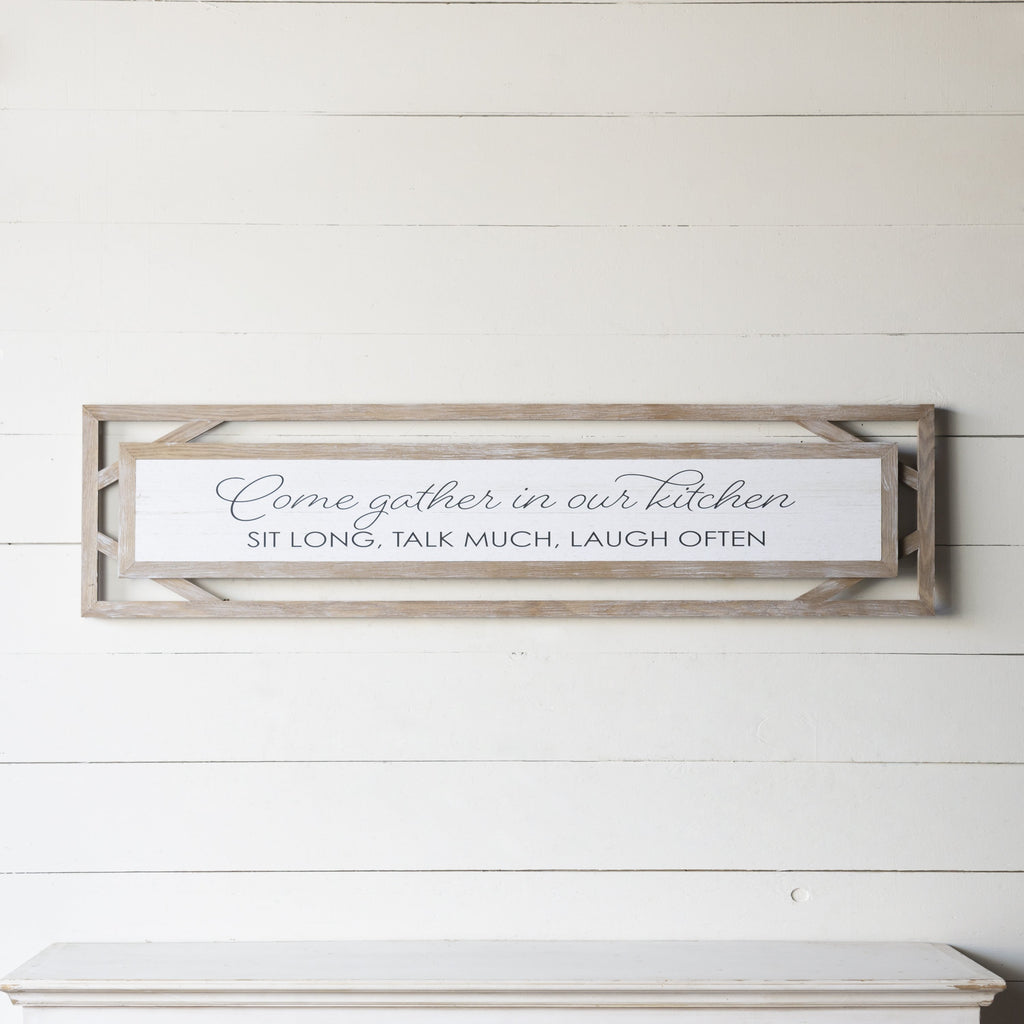 """Gather"" Framed Sign 47"""