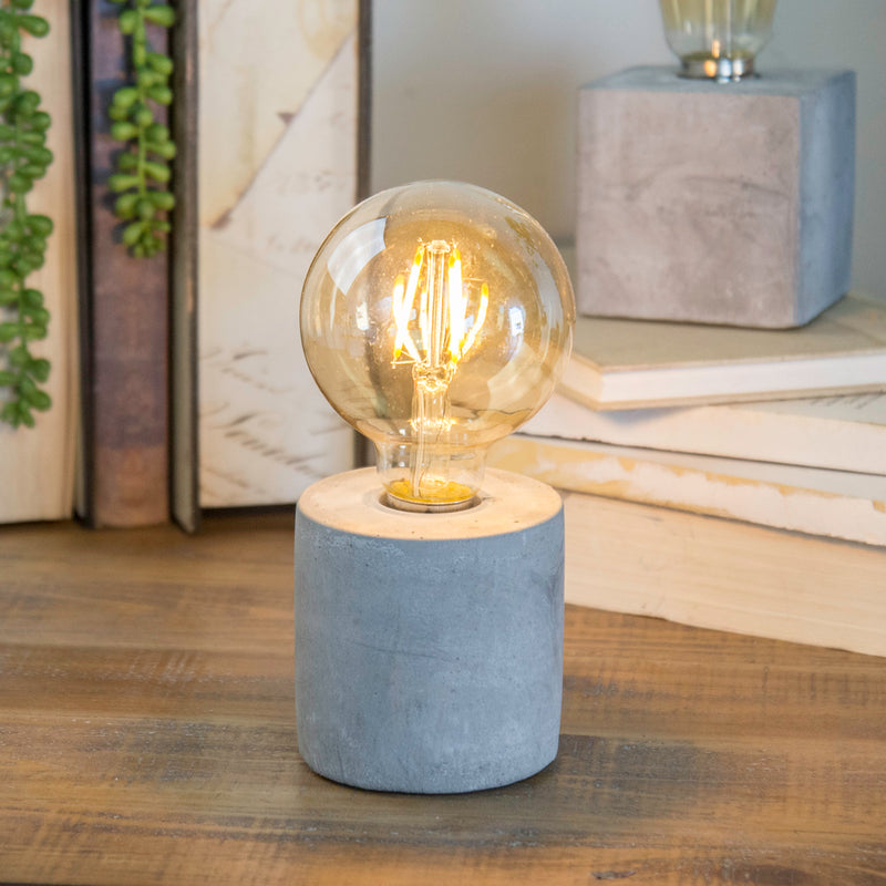 Rnd. Decorative  Light w/ Cement Base