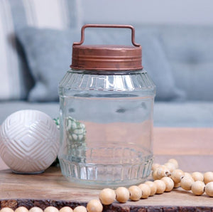 Glass Jar with Lid 7""